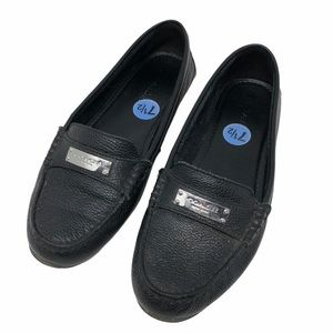 Coach Fredrica Loafers Black Leather